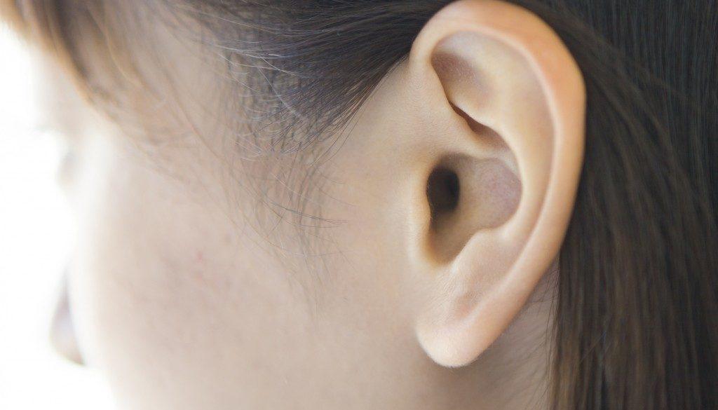 Ear of young women