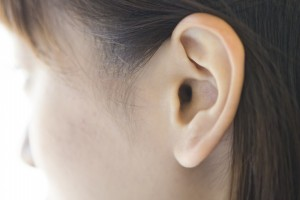 Ear of young women